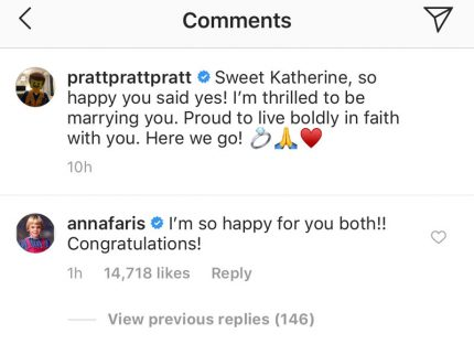 Anna Faris Chris Pratt Congratulations