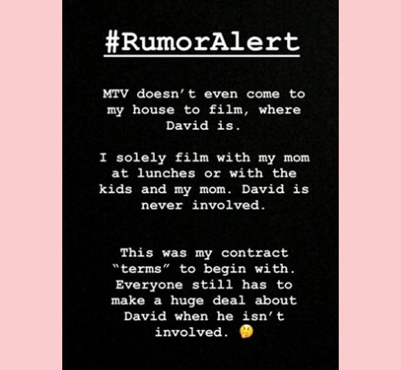 Jenelle Evans Instagram Story