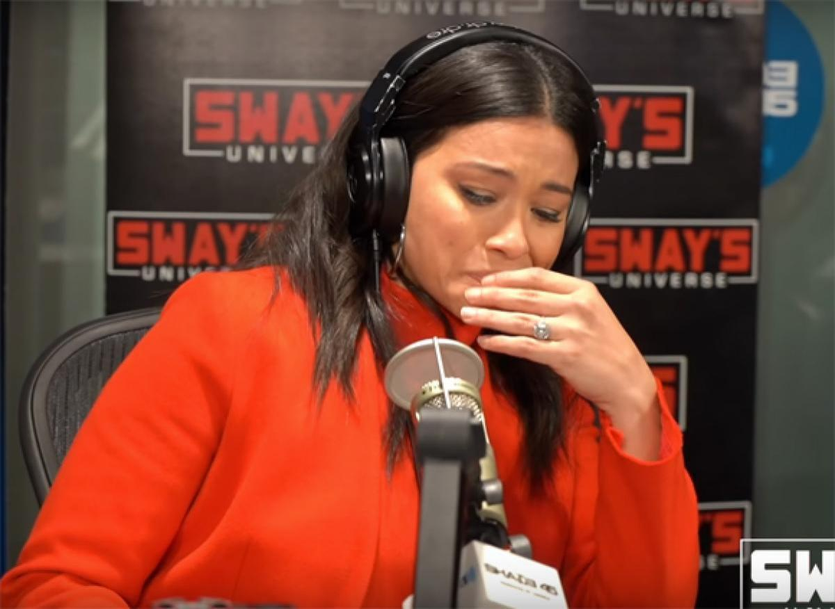 Gina Rodriguez tearfully breaks down on 'Sway in the Morning'