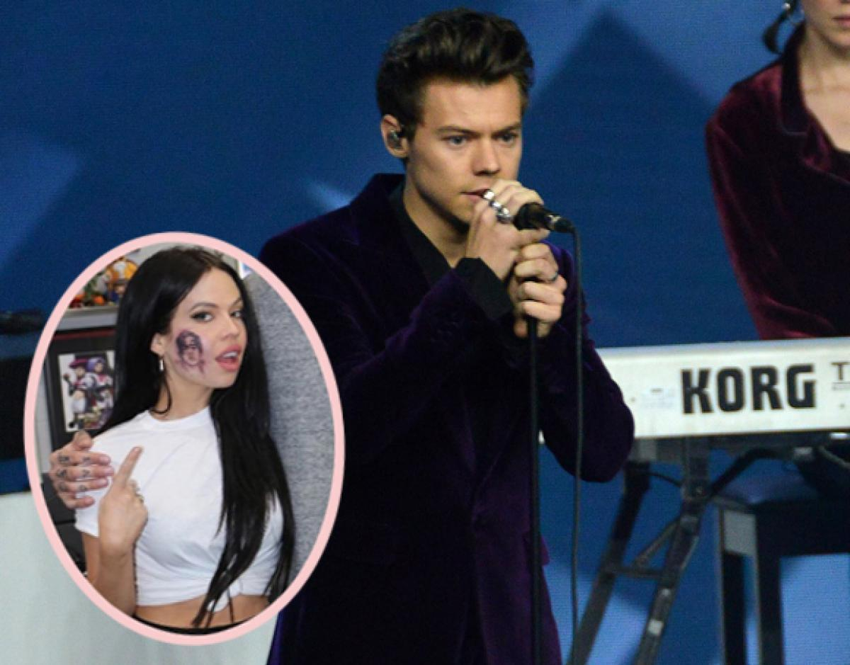Singer Kelsy Karter Gets A Massive Harry Styles Tattoo On Her Face