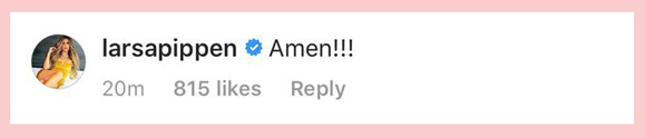Khloe Kardashian Tristan Thompson Cheating Instagram Comments Larsa Pippen