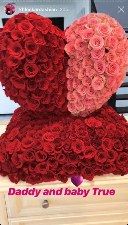 Khloe Kardashian Tristan Thompson True Thompson Valentines Day