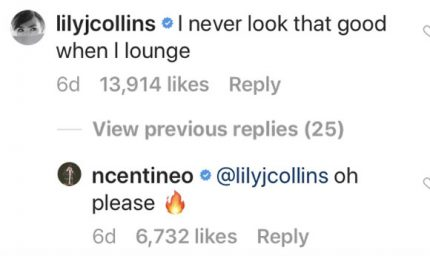 Lily Collins Noah Centineo
