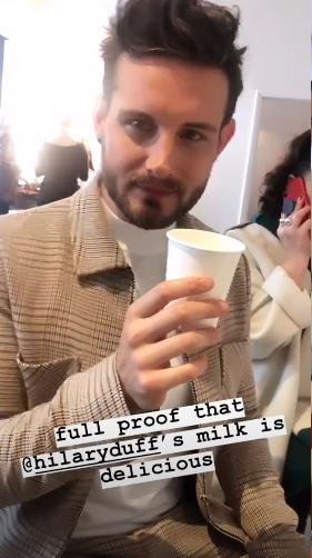 Nico tortorella drinking breast milk