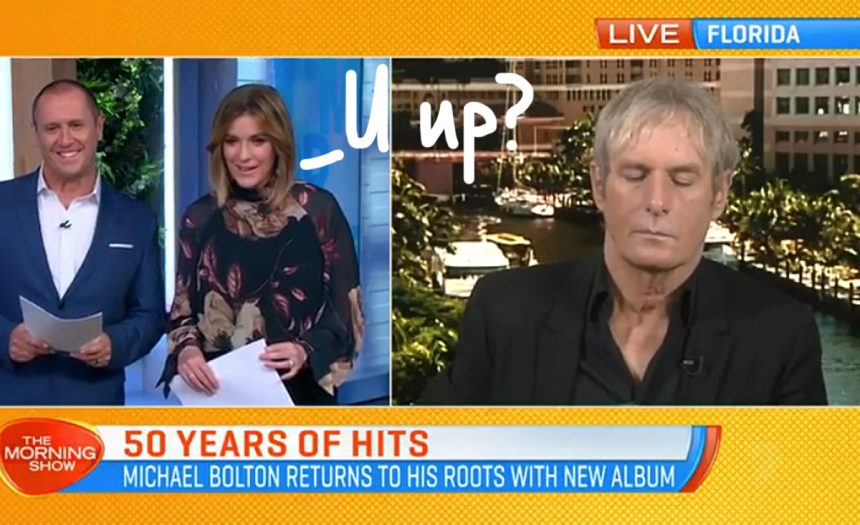 Michael Bolton appears to fall asleep during live TV interview, blames 'glitch'