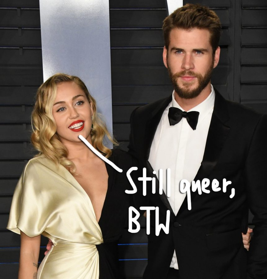 0a320c2525c Miley Cyrus Talks Identifying As A 'Queer Person' In A Heterosexual ...