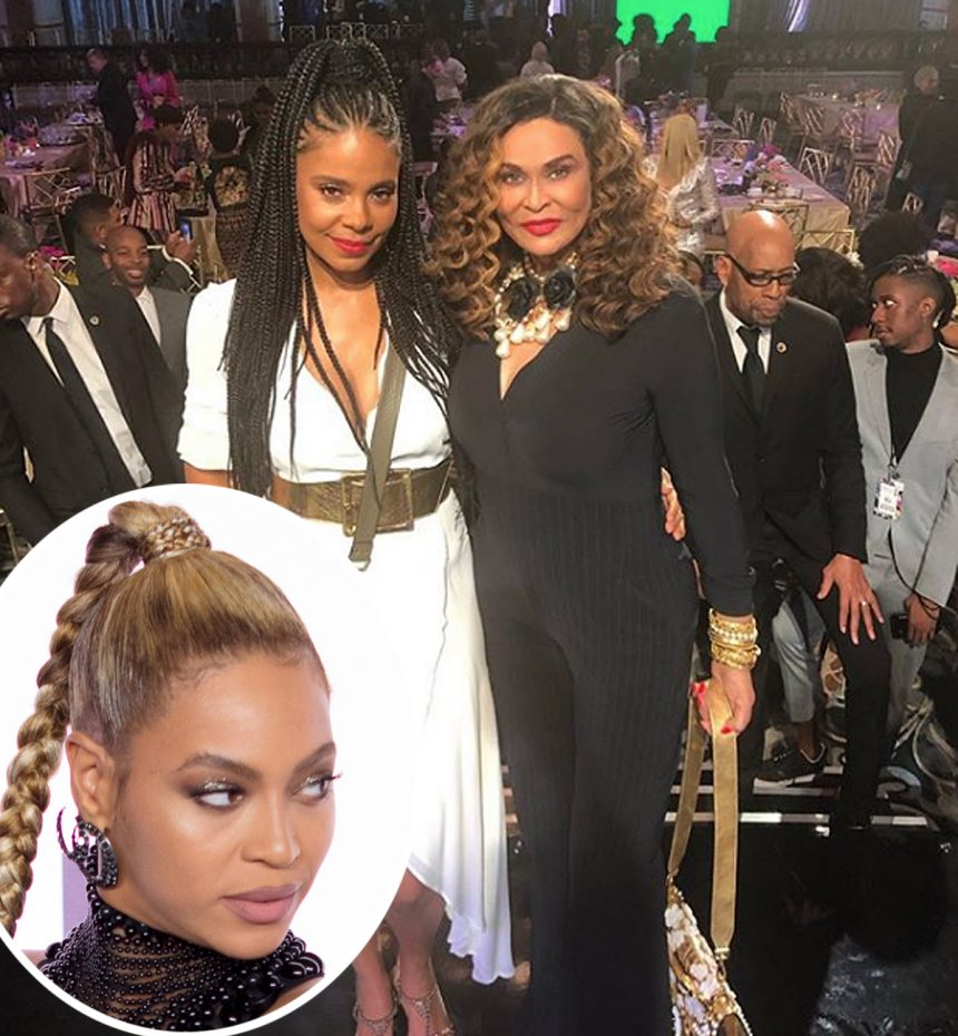 Tina Knowles Is All Smiles Posing With Accused Beyonce-Biter Sanaa Lathan!