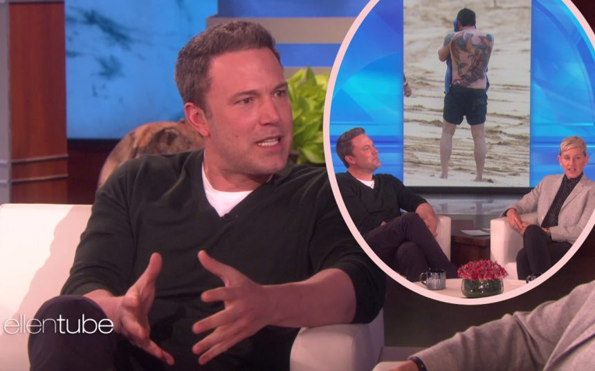 Ben Affleck Defends Terribly Huge Back Tattoo