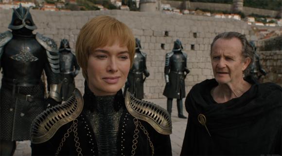 Cersei greets the golden company