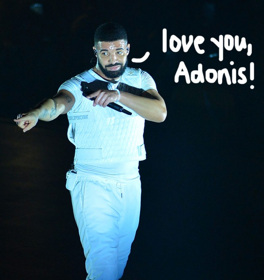 Drake Embraces The Dad Life & And Brings Son Adonis On His European
