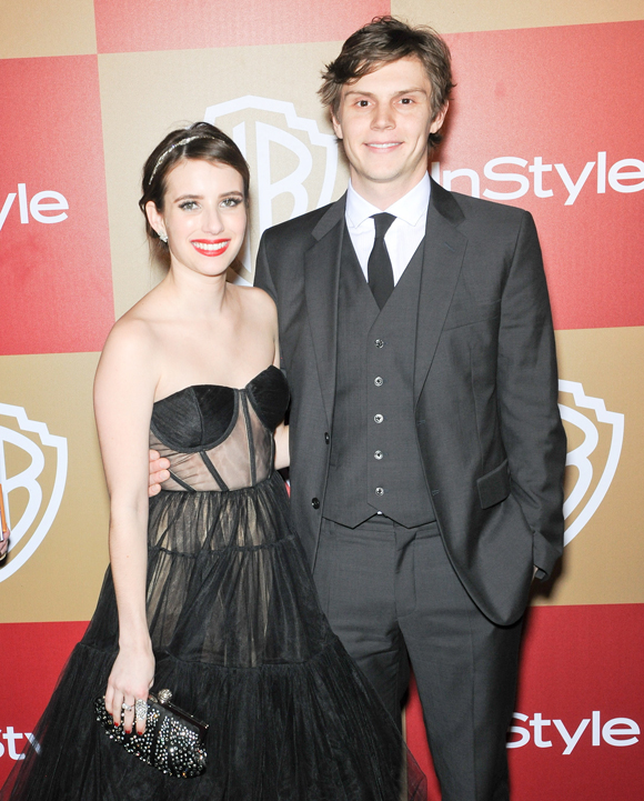 Emma Roberts and Evan Peters in 2013