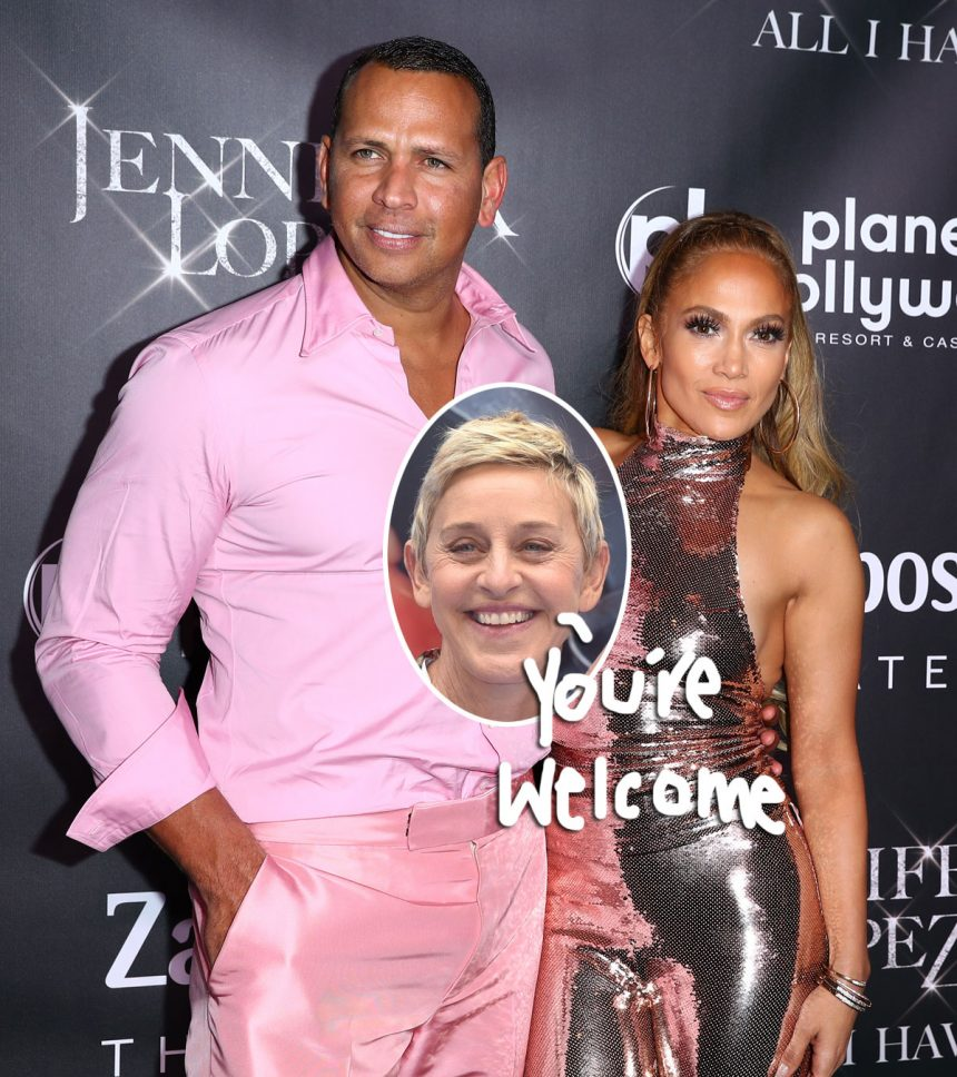 Ellen DeGeneres Takes ALL The Credit For Alex Rodriguez's ...