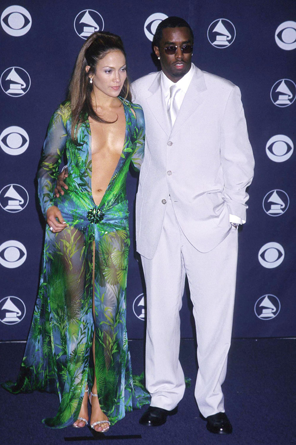 Jennifer Lopez and Puffy at the Grammys