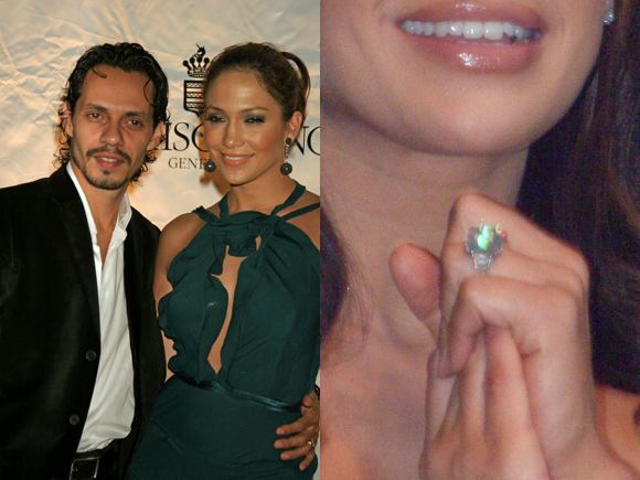 Jennifer Lopez husband Marc Anthony engagement ring