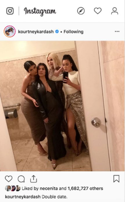 The Kardashian-Jenners pose for a group shot together.
