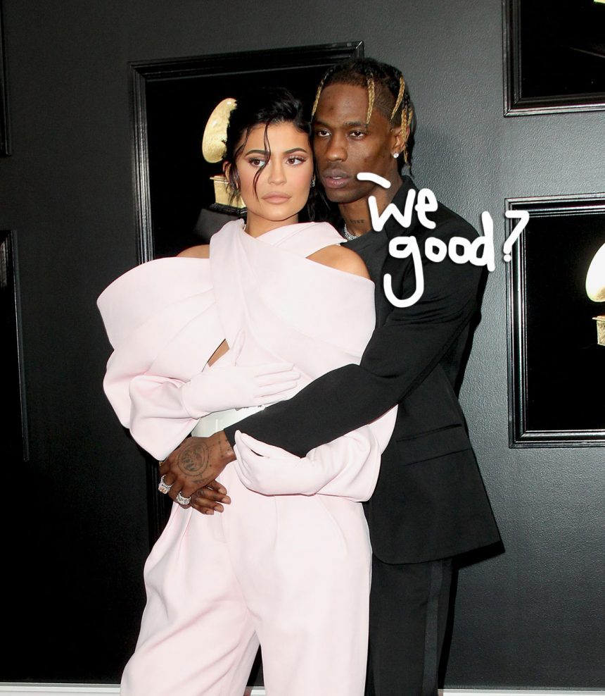 b197202f38e8 Amid reports that their relationship isn't what it used to be, Travis Scott  and Kylie Jenner were actually spotted out to dinner with Stormi Webster!