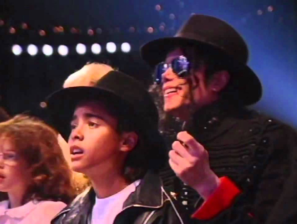 Michael Jackson and Jordan Chandler at the WMA in 1993