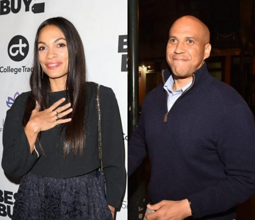 Cory Booker and Rosario Dawson are dating she confirms