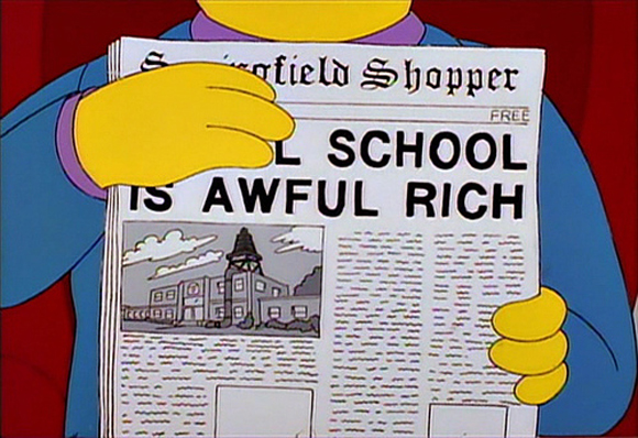 Simpsons Awful School clip