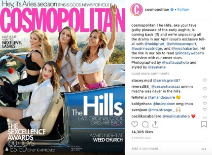 The Hills Reboot Cosmo April 2019 Issue