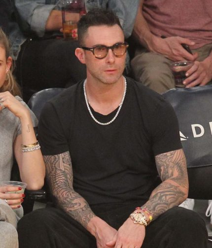 Adam Levine shows off tattoo sleeves