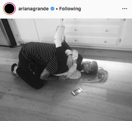 Ariana Grande and Mac Miller on Instagram