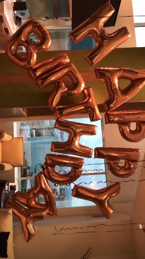Malika and Khadijah birthday balloons in vegas
