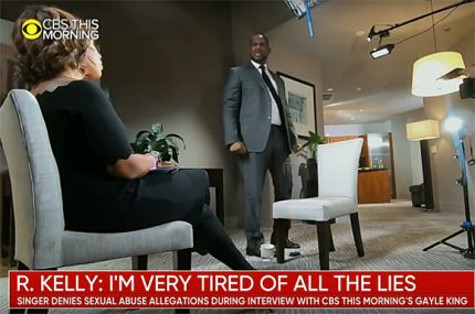 R Kelly explosive CBS interview with Gayle King.