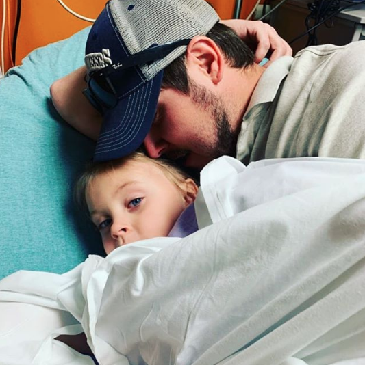 jeremy calvert selfie with daughter addie in hospital
