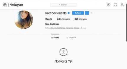 Kate Beckinsale deletes every instagram post.