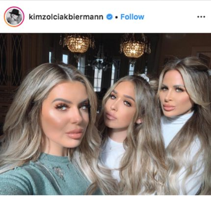Kim Zolciak poses with daughters Brielle and Ariana