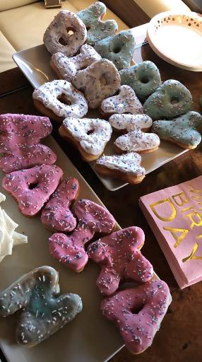 malika shares birthday donuts on instagram story