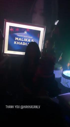 Celebrating Malika and Khadijah's birthday at Hakkasan in Vegas