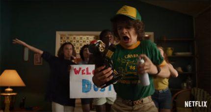 Dustin gets pranked in Stranger Things 3