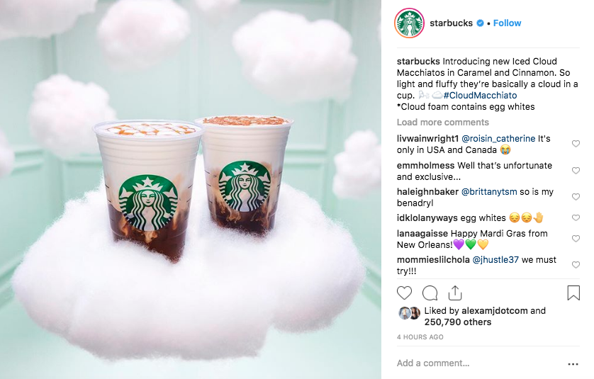 Cloud Macchiato: Newest Starbucks drink contains egg white powder