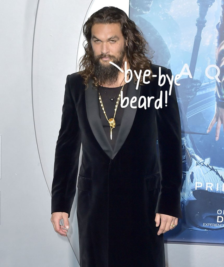 Jason Momoa Just Shaved Off His Beard For The First Time Since 2012 — Look!