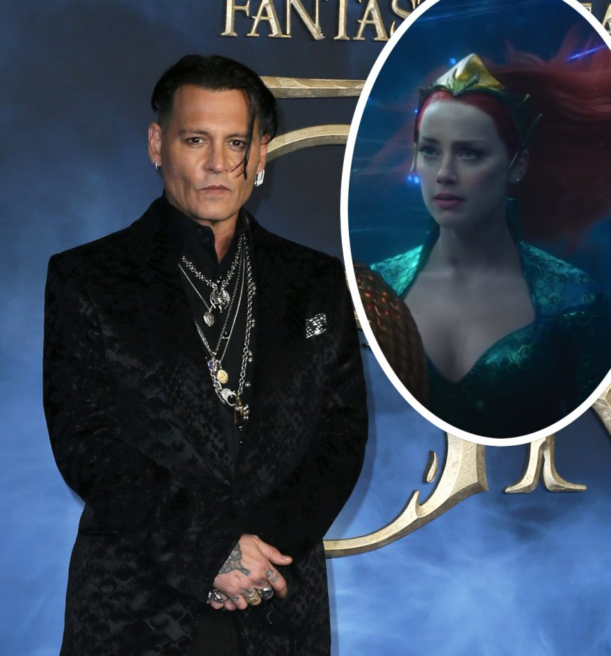 Johnny Depp Reportedly Tried to Get Amber Heard Fired From 'Aquaman'