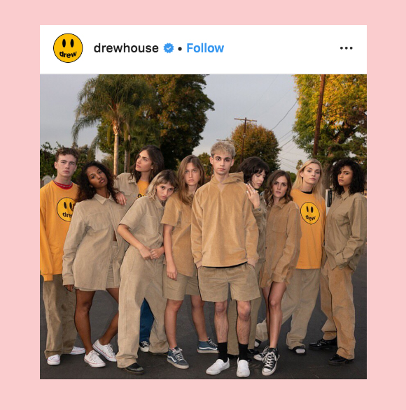 Justin Bieber Drew Clothing Line Instagram