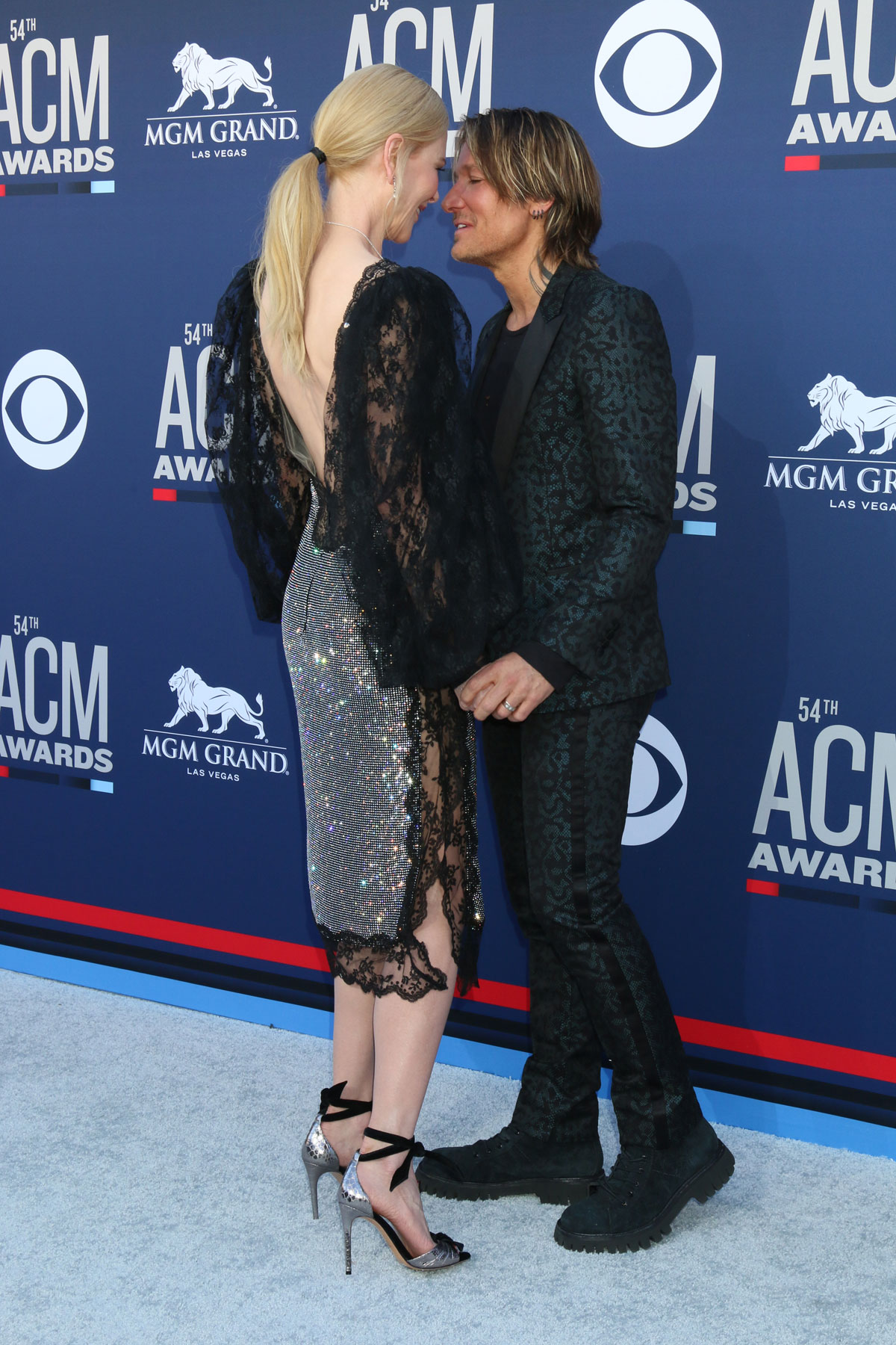 Keith Urban attends the ACMs adorably supported by his wife Nicole Kidman.
