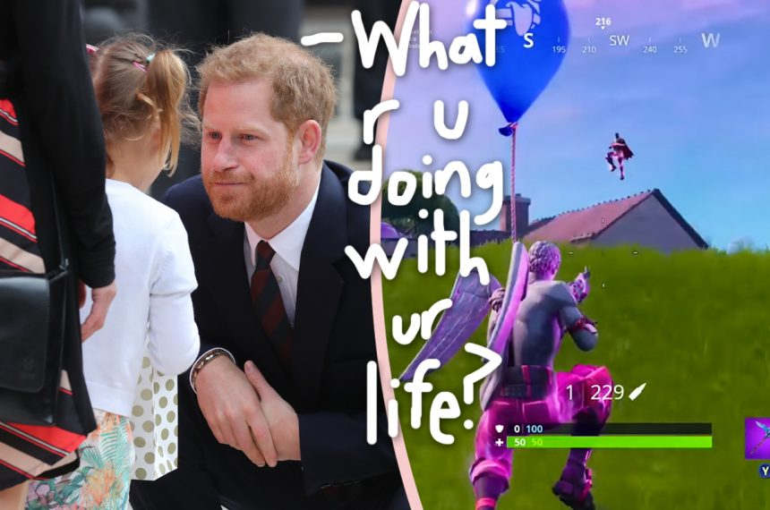 90b29160ff Everyone loves Prince Harry, right? He's kind and charming and charitable  and… he wants to take away your video games?!