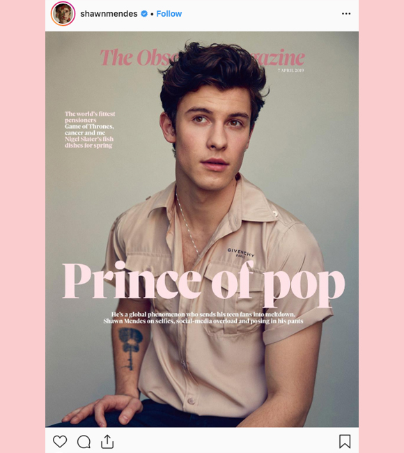 Shawn Mendes Instagram