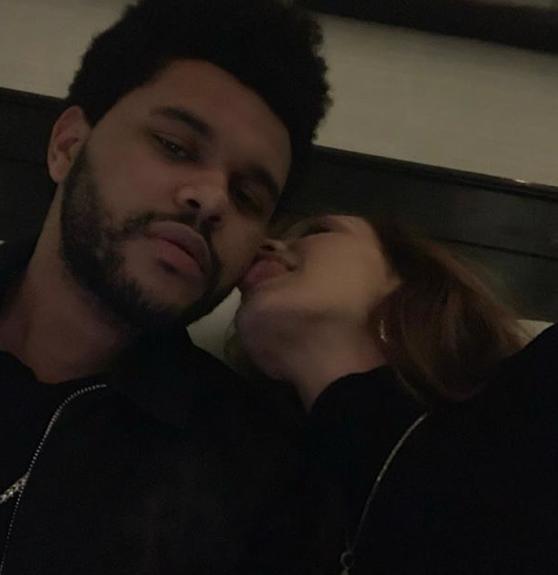 Bella Hadid licks The Weeknd!