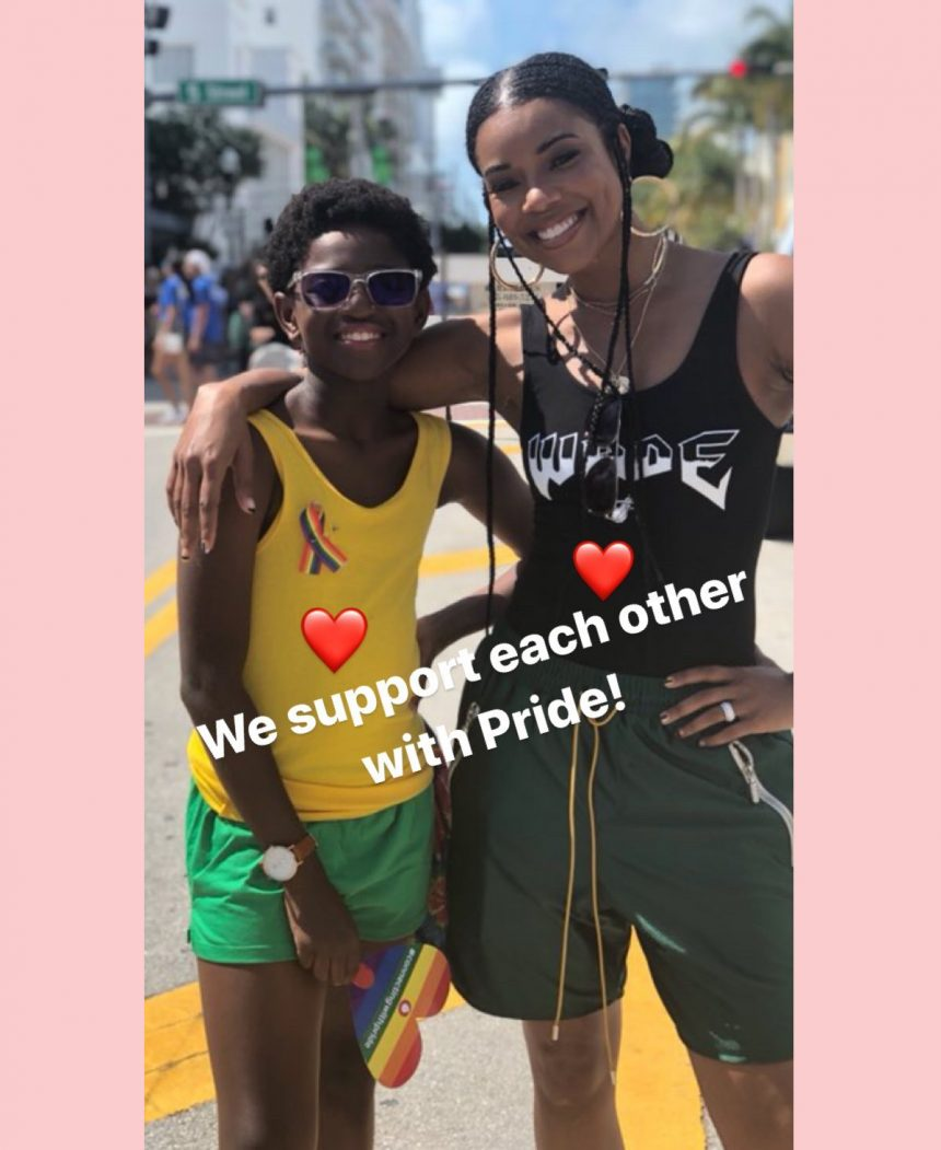 Gabrielle Union Is A Supportive Stepmom With Dwyane Wade's Son At