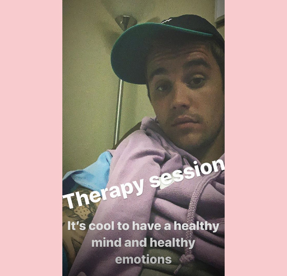 Justin Bieber shares therapy session.