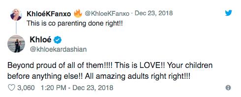 khloe kardashian praises kourtney kardashian and scott disick on twitter