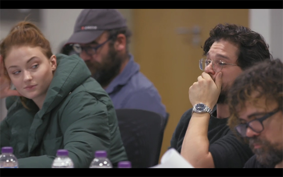 Kit Harington table read reaction