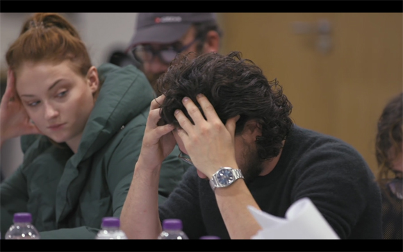 Kit Harington table read reaction Sophie 1