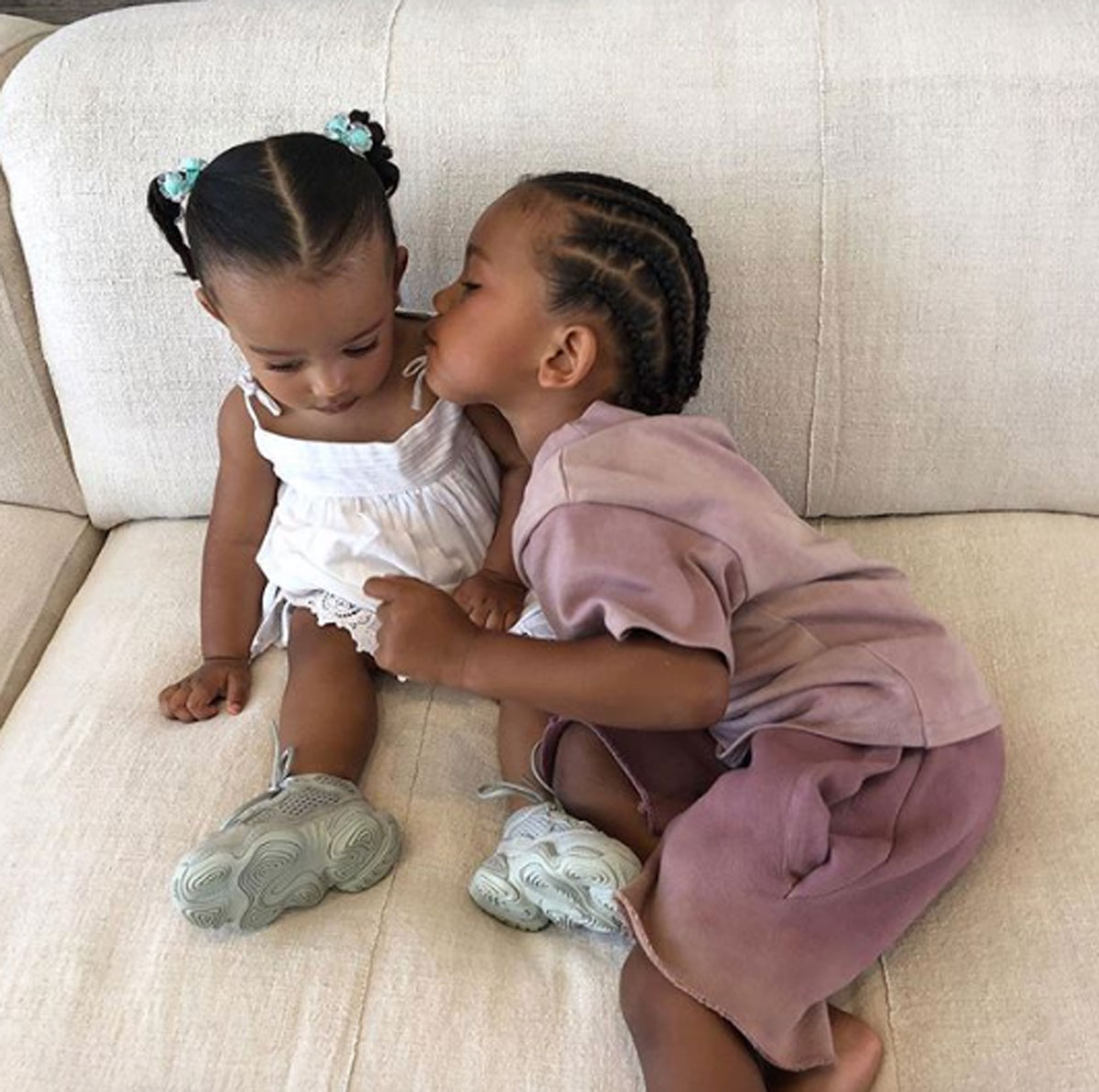 Kim Kardashian shares cute pic of Saint West and Chicago West