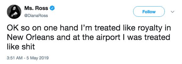 Diana Ross hates the TSA