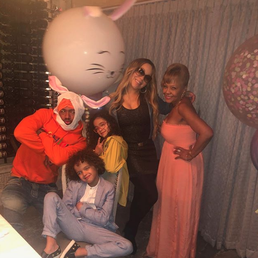 mariah carey and nick cannon celebrate easter